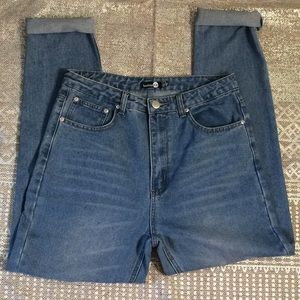 Factory Distressed Ripped Knee Jeans - Size 14